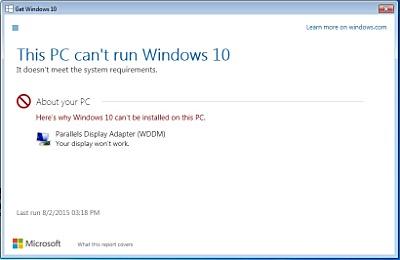 Windows 10 - Parallels