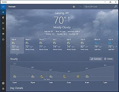 Windows 10 Weather