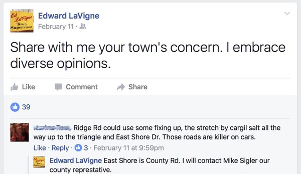 Lansing Supervisor on Facebook