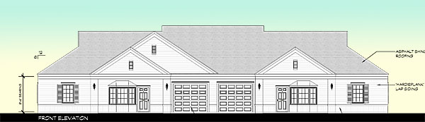 Lansing Meadows Front Elevation