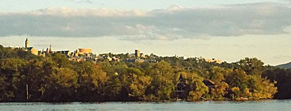 cornell from lake